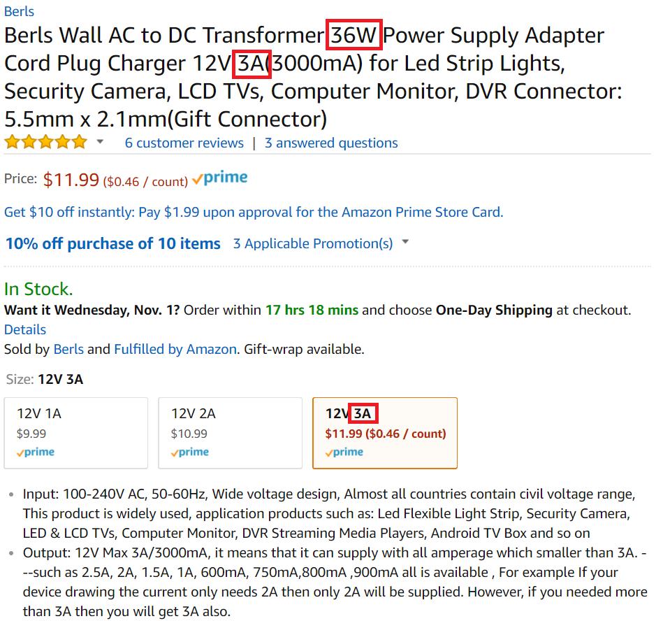 15 Watt Standard 12 Volt Dc Led Power Supply 17 99 15 Watt 12 Volt Led