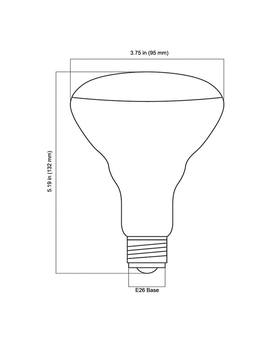 Br Stands For Bulged Reflector A Reference To The Bulge Outward As One Travels Away From Socket Or Flared Shape Of Lamp Body